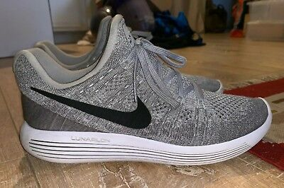 b17ad6922f42 Nike Lunarepic Flyknit 2 863779-002 Size 10.5 M Gray Athletic Running Mens  Shoes