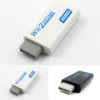 Cable New 720p Adapter Full Upscaling Converter Hdmi To Jack 1080p Wii Audio
