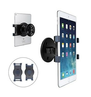 Tablet Wall Mount, Swivel 360° Rotating Tablet Holder w/two Brackets t