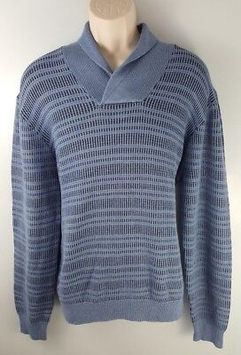 ed7fe28ed PERRY ELLIS MENS Almont Shawl-Collar Sweater Alloy Heather M NWT ...