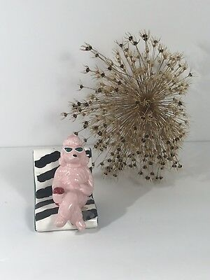Vintage Pink Poodle Chair Salt And
