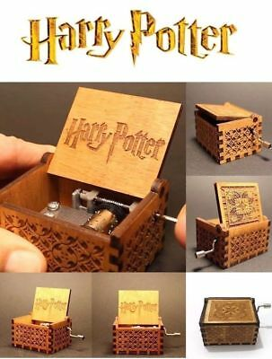 New Harry Potter Engraved Wooden Music Box Toys Kids Birthday Gifts uk stock