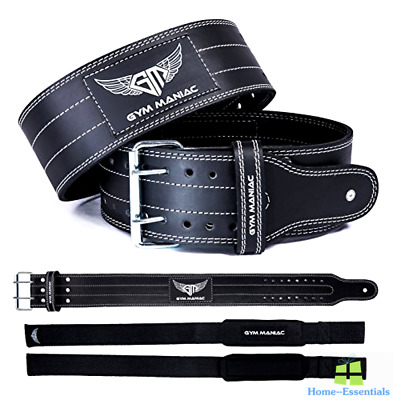 Weight Lifting Belt Leather Gym Back Support Training Fitness Belts Men Women