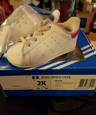 Adidas Originals Stan Smith Crib Sneaker Shoes S82618 - Size 2K - New With  Box 57d0c31f3
