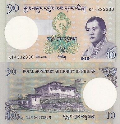 Bhutan 10 Ngultrum (2006) - King/Palace/p29 UNC
