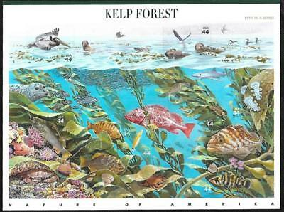 Scott 4423 44 Cent Nature Of America: Kelp Forest Sheet Of 10 Mnh Free Shipping