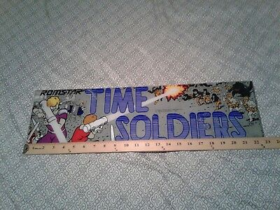Time soldiers Original arcade marquee romstar good condition 23x6