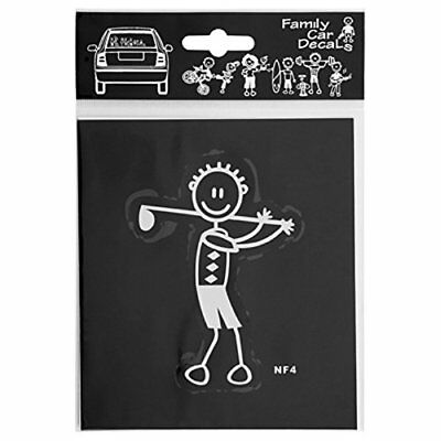 FAMILY CAR DECALS ADH06685 ADESIVO UOMO GOLF MY FAMILY (dyX)