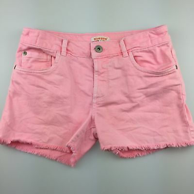 Girls size 12, Blue Zoo, pink stretch denim jean shorts, adjustable, GUC