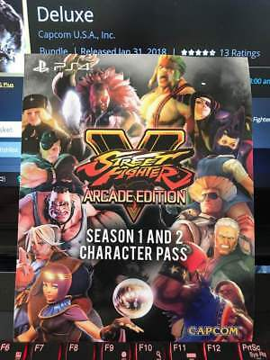 PS4:Street Fighter V: Arcade Edition Character Pass 1 + 2 Bundle (No Game)