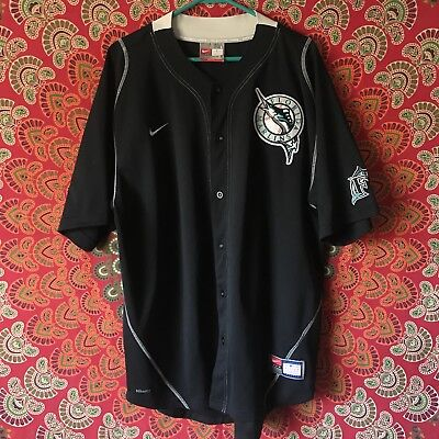 143426110 MLB FLORIDA MARLINS Baseball Jersey Mens Size L Russell Athletic ...