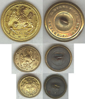 MIXED SET OF Civil War Era US Navy Buttons - Three Different Types incl  NA233