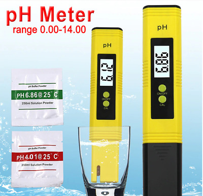 Portable Electric Digital Ph Meter Test Hydroponics Pen Aquarium Pool Water NYPR