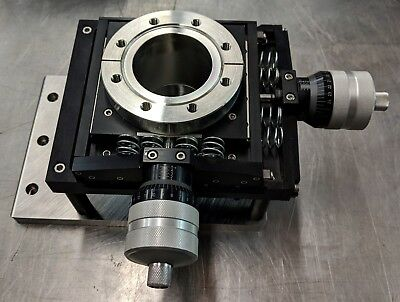 """MDC XY-25 ultra heavy duty precision UHV XY vacuum stage on 4.5"""" conflat flange"""