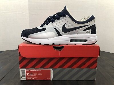 sports shoes 29111 51454 NIKE AIR MAX Zero QS Size 11.5 whit/Mid Navy/Hyp Jade Tinker Hatfield  789695-104