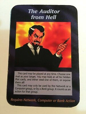 """Rare Illuminati Cards """"The Auditor from Hell"""" Limited Edition Steve Jackson Game"""