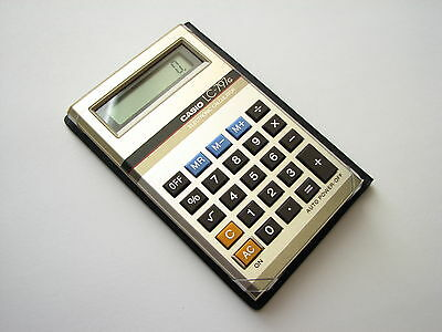 Immaculate NEW NOS Vintage 1982 NOS CASIO LC-797g LCD BASIC pocket Calculator