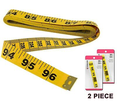 96 Inch Measuring Tapes 243 cm Rulers Soft Cloth Body Measures for Sewing Tailor