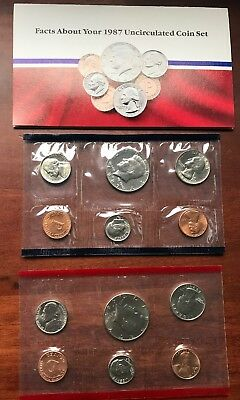 1987 United States U.S. Mint Uncirculated Coin Set