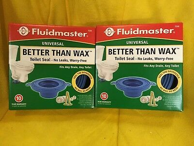 "FLUIDMASTER UNIVERSAL ""BETTER Than Wax"" Toilet Seal New In Box Quantity 2"