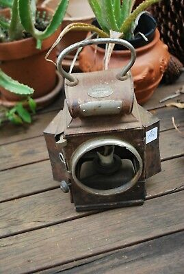 Antique J&R Oldfield Ltd Brass Dependence Railway Marker Oil Lamp With Burner