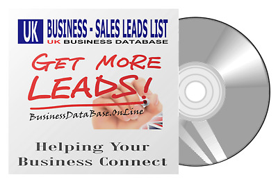 UK Business DataBase For  Email Marketing 760.000 Business Sales Leads List