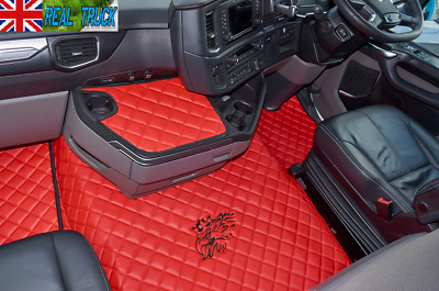 Scania R Series New Generation [ 2017 + ] Truck Eco Leather Floor Set -Red