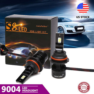 2PCS Car LED Headlight 9004 HB1 140W  20000LM White Dual Beam Bulbs 6000K Lamp