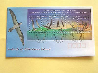 Christmas Island ~ Seabirds ~ Miniature Sheet ~ 1993 ~ FDC
