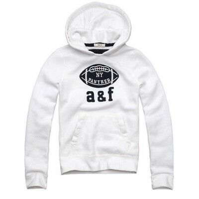 637d21e39ff8 NEW ABERCROMBIE   FITCH KIDS A F Boys Iroquois Fleece Hoodie Pullover White  ...