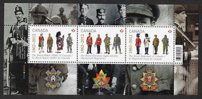 Canada Stamps - Souvenir Sheet - 2012, The Regiments #2577 - MNH