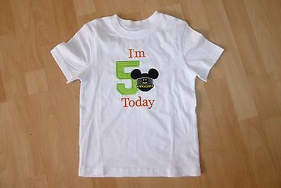 Personalised Embroidered Mickey Mouse Batman 1st 2nd Birthday Boy T Shirt Top