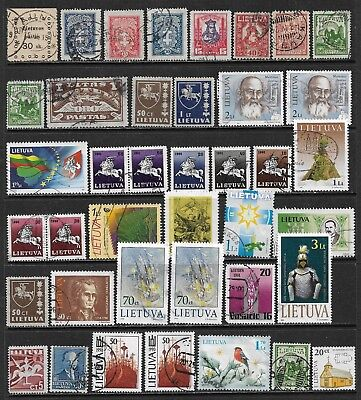 LITHUANIA Interesting and Diverse Mint and Used Issues Selection (Dec 266)