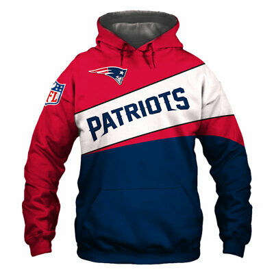 NEW ENGLAND PATRIOTS Hoodie Hooded Zip Sweatshirt Pullover S-5XL NFL 2019 SUPER