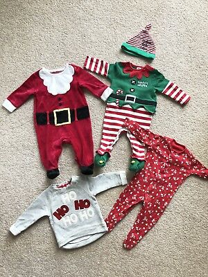 Christmas Clothes Bundle  Baby Boy Girl Unisex 3-6 Months
