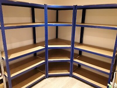 5 tier Heavy Duty metal shelving unit in excellent used condition