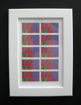 Robert Indiana Framed 'love' Stamps. Great Valentine Present.