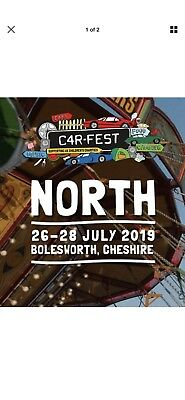 Carfest North 2019 - 2 x Adult Weekend Camping Tickets -£398 For Both