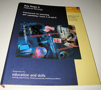 FRAMEWORK FOR TEACHING ICT CAPABILITY YEARS 7, 8 AND 9 KS3 National Stategy
