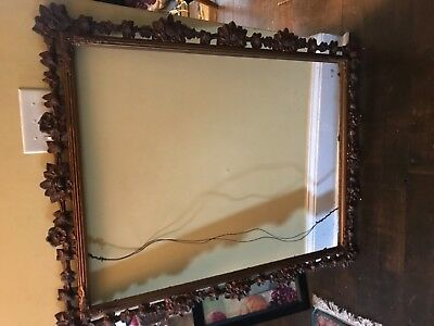 19th C Large 40 X 30 Gold Gilt Antique Frame Victorian Eastlake