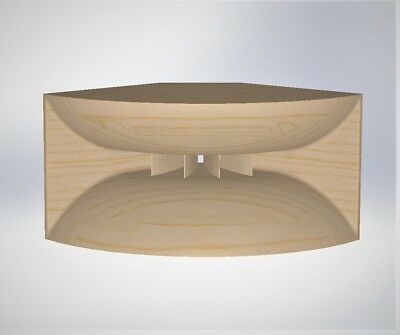 CAD 3D audio wood horn project for 3D cnc cut, good for TAD JBL 2inch drivers