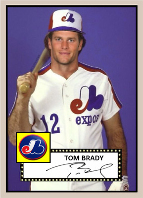 Tom Brady Drafted By Expos Aceo Art Baseball Card ### Buy 5 Get 1 Free ###