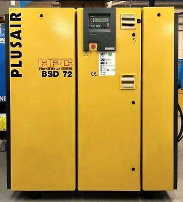 HPC / Kaeser BSD72 Rotary Screw Compressor, 37kW! 247Cfm! Low Hours! Great Order