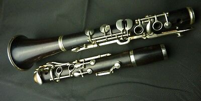 Vintage German Oehler system wooden Bb clarinet