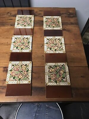 Antique fireplace tiles