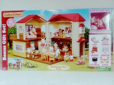 f8299c4aaba5 New Calico Critters Red Roof Country Home Gift Set Figures Dining Furniture