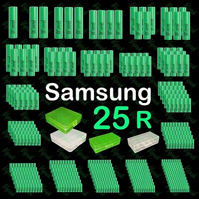 Samsung INR 18650 25R 2500mAh/20Amp Flat Top Rechargeable Battery / Wholesale