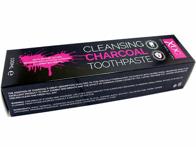 2 x XOC Cleansing Charcoal Toothpaste - Whitening Xpel Oral Care - 100ML