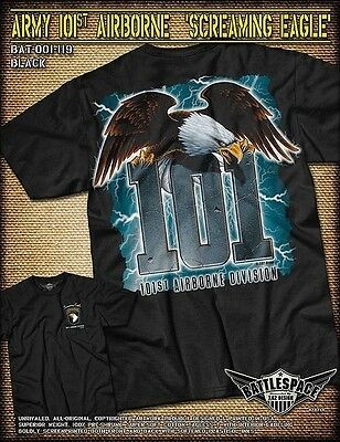 ARMY 101ST AIRBORNE Distressed T-Shirt- 7.62 Design Army Tee Shirt ... 51fd4992d