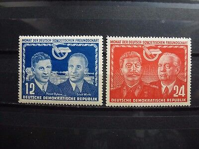 East Germany, DDR, 1951, 296-297, **MNH, signed